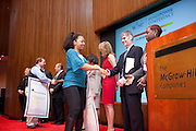 Blue Star School Ceremony was announced by Charlotte Frank, Ph.D., Senior Vice President, Research & Development, McGraw-Hill Education & Member, Board of Directors, WISE. The 9th MoneyPOWER Conference for Financial Literacy brings together educators, leaders and experts in the field of personal finance education. The conference helps to further the shared mission to educate young people so that they can graduate high school with the knowledge and skills they need to be financially capable adults. More than 40,000 students in 27 states took the tests; 74.2% of students passed the Certification Test, earning our widely recognized CFL™ (Certified Financially Literate). ..The Conference featured workshops, educator led sessions, introductions to publications and resources at the Resources Fair, opportunities to consult with Certified Financial Planners and a chance to network with other participants. The keynote speaker was Karen Finerman, the well known Chair of CNBC's Fast Money and Co-Founder and Chief Executive Officer of Metropolitan Capital Advisors. The McGraw-Hill Companies hosted the conference on November 8, 2011 in New York.