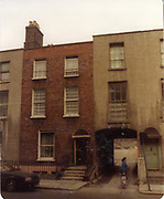 Old amateur photos of Dublin streets churches, cars, lanes, roads, shops schools, hospitals, Streetscape views are hard to come by while the quality is not always the best in this collection they do capture Dublin streets not often available and have seen a lot of change since photos were taken Dordet St, Shops, Blessington St rear cottages, place november 1983