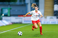 Naomu Megroz (#3) of Switzerland during the 2019 FIFA Women's World Cup UEFA Qualifier match between Scotland Women and Switzerland at the Simple Digital Arena, St Mirren, Scotland on 30 August 2018.