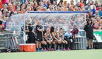 BERKEL EN RODENRIJS  (Neth) - HOCKEY - RABO SUPER SERIE  <br /> friendly match :The Netherlands v  New Zealand (w).  De dug out van NZL.       COPYRIGHT KOEN SUYK