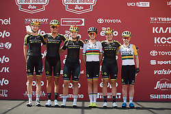 Mitchelton Scott at Strade Bianche - Elite Women 2020, a 136 km road race starting and finishing in Siena, Italy on August 1, 2020. Photo by Sean Robinson/velofocus.com