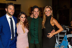 SANTA ANA, CA - OCT 10: Mexican actress and singer-songwriter Dulce Maria poses with (L-R), Gabriel Coronel, Christian Chavez and Marjorie de Sousa during ParaTodos Magazine 20th Anniversary Gala at the Bower Museum on 10th of October, 2015 in Santa Ana, California. Byline, credit, TV usage, web usage or linkback must read SILVEXPHOTO.COM. Failure to byline correctly will incur double the agreed fee. Tel: +1 714 504 6870.
