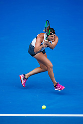 January 19, 2019 - Melbourne, VIC, U.S. - MELBOURNE, VIC - JANUARY 18: ARYNA SABALENKA (BLR) during day five match of the 2019 Australian Open on January 18, 2019 at Melbourne Park Tennis Centre Melbourne, Australia (Photo by Chaz Niell/Icon Sportswire) (Credit Image: © Chaz Niell/Icon SMI via ZUMA Press)