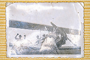 people with airplane 1936 photograph