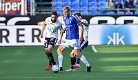 Fotball , 1. juli 2019 , Eliteserien , Strømsgodset - Sarpsborg<br /> Mounir Hamoud , SIF<br /> Jonathan Lindseth , S08