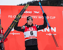 28.01.2018, Seefeld, AUT, FIS Weltcup Langlauf, Seefeld, FIS Weltcup Langlauf, 15 km Sprint, Herren, Siegerehrung im Bild Dario Cologna (SUI) // Dario Cologna of Switzerland during winner ceremony of men's 15 km sprint of the FIS cross country world cup in Seefeld, Austria on 2018/01/28. EXPA Pictures © 2018, PhotoCredit: EXPA/ Stefan Adelsberger