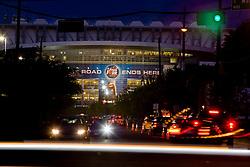 Stock photo of the NCAA Final Four Tournament taking place at Reliant Stadium in Houston Texas