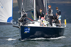 Pelle P Kip Regatta 2019 Day 1<br /> <br /> Light and bright conditions for the opening racing on the Clyde keelboat season<br /> <br /> GBR2068R, Blue Jay, John Stanley-Whyte, RNCYC, J109