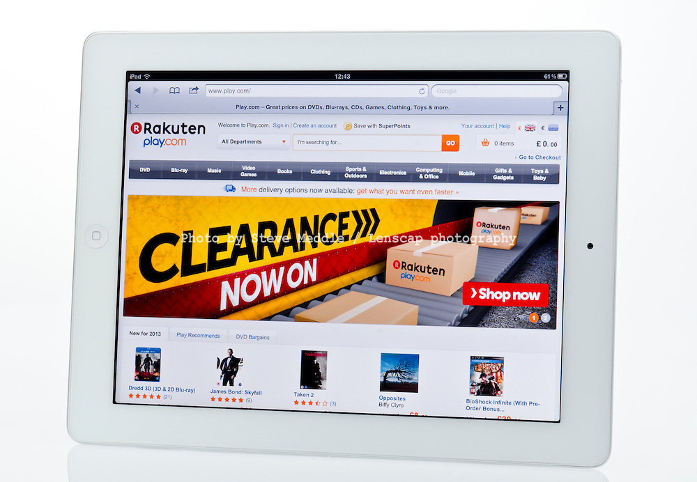 Apple Ipad showing Play.com Website  - Jan 2013.