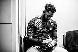 Chris Taylor of Bristol Flyers prepares in the changing room prior to tip off - Photo mandatory by-line: Ryan Hiscott/JMP - 26/01/2020 - BASKETBALL - Arena Birmingham - Birmingham, England - Bristol Flyers v Worcester Wolves - British Basketball League Cup Final