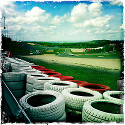 The Nürburgring is a motorsports complex around the village of Nürburg, Germany..Hipstamatic images taken on an Apple iPhone..©Michael Schofield.