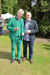 Left to right, MATTHEW HORTON and VINCE POWER at Goffs London Sale held at The Orangery, Kensington Palace, London on 15th June 2015.