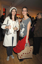 Left to right, sisters LORNA LOPES and MIMA LOPES at an exhibition of artist Natasha Law's work entitled 'Room' hosted by the Eleven gallery in association with Ruinart champagne at 121 Charing Cross Road, London WC2 on 16th January 2008.  Following the private view a dinner was held at Soho House hosted by Ruinart.<br /> <br />  (EMBARGOED FOR PUBLICATION IN UK MAGAZINES UNTIL 1 MONTH AFTER CREATE DATE AND TIME) www.donfeatures.com  +44 (0) 7092 235465