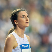 BRUSSELS, BELGIUM:  September 3:   Nicola McDermott of Australia during the high jump competition at the Wanda Diamond League 2021 Memorial Van Damme Athletics competition at King Baudouin Stadium on September 3, 2021 in  Brussels, Belgium. (Photo by Tim Clayton/Corbis via Getty Images)