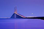 Sunshine Skyway Bridge, Tampa Bay, Full Moon, Saint Petersburg, Florida