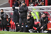MK Dons manager Paul Tisdale during the EFL Sky Bet League 2 match between Grimsby Town FC and Milton Keynes Dons at Blundell Park, Grimsby, United Kingdom on 26 January 2019.