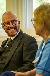 Pictured: Patrick Harvie<br /> Alison Johnstone, health spokeswoman for the Scottish Greens, was joined by party co-conveners Patrick Harvie and Maggie Chapman as she spoke to nurses about pay at the Royal College of Nursing in Edinburgh. The talks came ahead of the party's conference in Edinburgh at the weekend.<br /> <br /> Ger Harley | EEm 20 October 2017