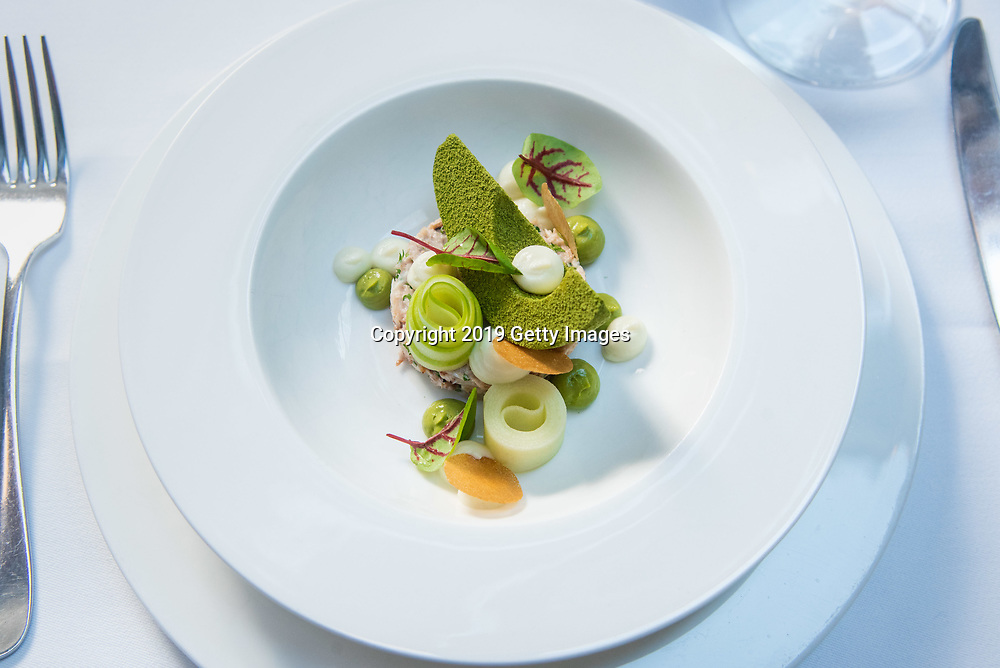 Salade de crevettes et avocats photographed at Majorelle in the Lowell Hotel in New York City on November 1st, 2019. (Photo by Kris Connor/Getty Images for OK! Magazine)