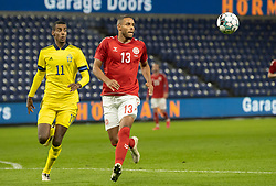 "Alexander Isak (Sverige) og Mathias ""Zanka"" Jørgensen (Danmark) under venskabskampen mellem Danmark og Sverige den 11. november 2020 på Brøndby Stadion (Foto: Claus Birch)."