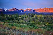 SUnrise and St. Elias Mountains<br /> Kluane National Park<br /> Yukon<br /> Canada