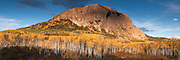 Evening light strikes Marcellina mountain, 11,348ft, Gunnison National Forest, Colorado.