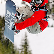 British National Snowboard Team member Dominic Harington competes in the half pipe during qualifying at the 2009 LG Snowboard FIS World Cup at Cypress Mountain, British Columbia, on February 16th, 2009. Harington finished 45th in the field of 70.