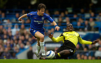 Photo: Alan Crowhurst.<br />Chelsea v Manchester City. The Barclays Premiership. 25/03/2006. Joe Cole of Chelsea (L) with Micha Richards.