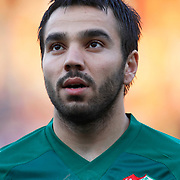Bursaspor's Volkan SEN during their Turkish Super League soccer match Galatasaray between Bursaspor at the AliSamiYen Stadium at Mecidiyekoy in Istanbul Turkey on Sunday 25 April 2010. Photo by Aykut AKICI/TURKPIX