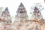 Fine Art:<br /> <br /> Banteay Srei three towers in the fog