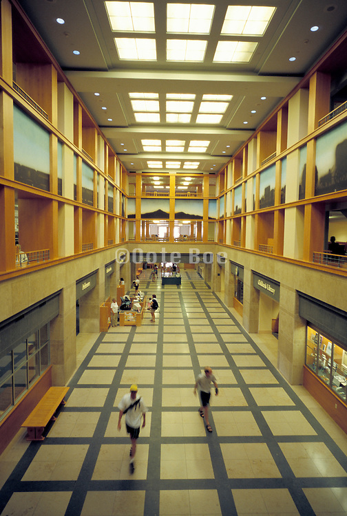 hall in a public library