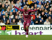 Photo: Gareth Davies.<br />Reading v Bolton Wanderers. The Barclays Premiership. 02/12/2006.<br />Bolton's El Hadji Diouf complains to the ref after being unhappy after a challenge.