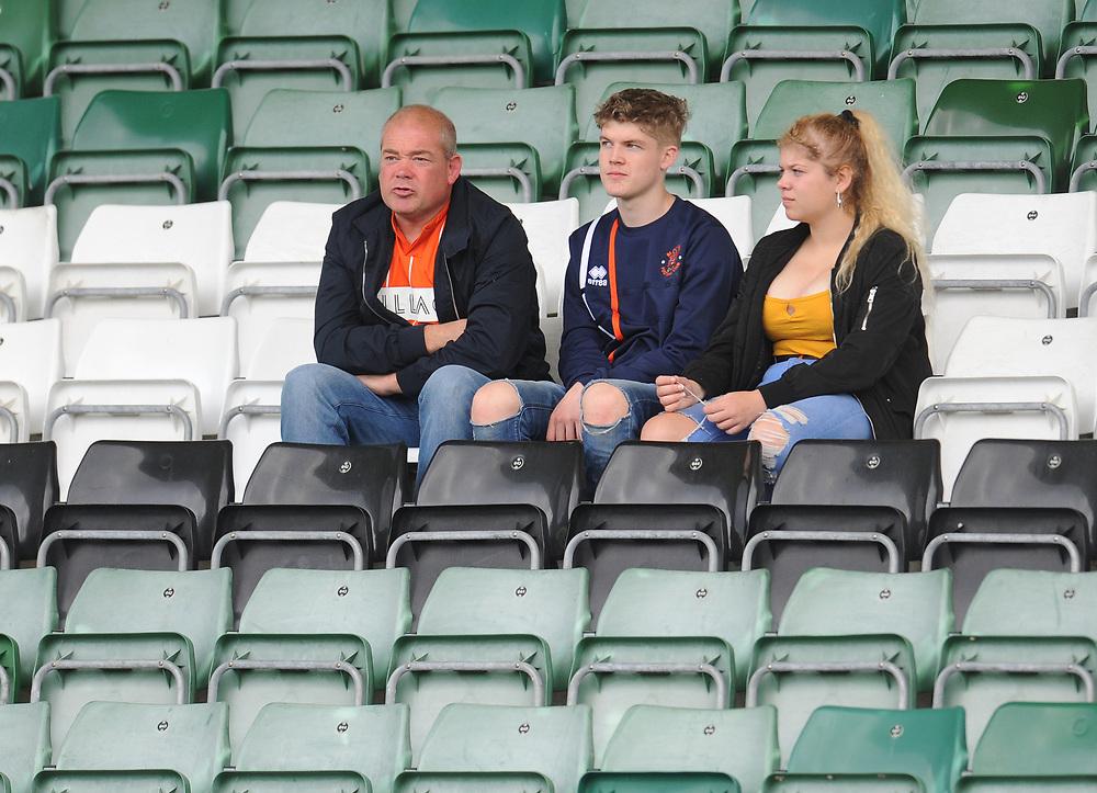 Blackpool fans enjoy the pre-match atmosphere <br /> <br /> Photographer Kevin Barnes/CameraSport<br /> <br /> The EFL Sky Bet League One - Plymouth Argyle v Blackpool - Saturday 15th September 2018 - Home Park - Plymouth<br /> <br /> World Copyright © 2018 CameraSport. All rights reserved. 43 Linden Ave. Countesthorpe. Leicester. England. LE8 5PG - Tel: +44 (0) 116 277 4147 - admin@camerasport.com - www.camerasport.com