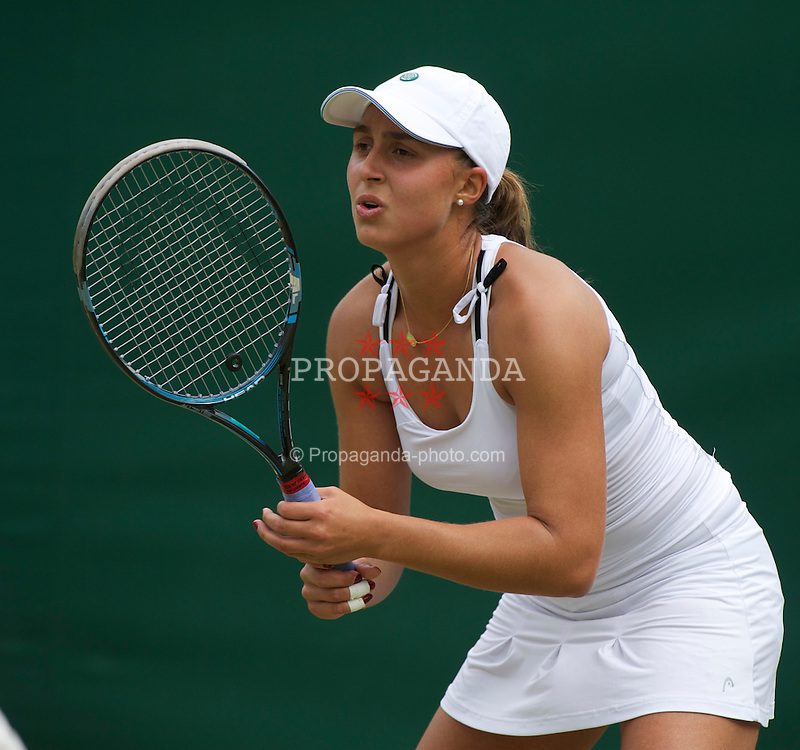 LONDON, ENGLAND - Friday, June 24, 2011: Tamira Paszek (AUT) in action during the Ladies' Singles 3rd Round match on day five of the Wimbledon Lawn Tennis Championships at the All England Lawn Tennis and Croquet Club. (Pic by David Rawcliffe/Propaganda)