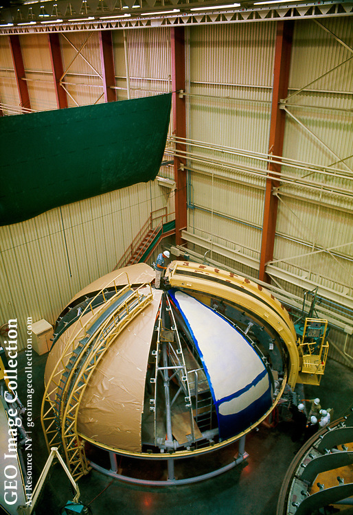 View at the North American Rockwell Corp. of dome-shaped structures used to build part of the Apollo spacecraft.