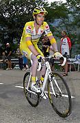 FRANCE SUNDAY 22ND JULY: Tour de France Stage 14 Mazamet - Plateau-de-Beille, 197km. David Millar (Saunier Duval - Prodir) on Plateau de Beille.