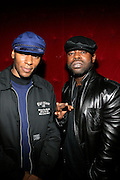 """Mos Def and Black Thought at The Roots Album realease party for """"Roots Down"""" at Sutra on April 29, 2008"""".. The Legendary Roots Crew, the influential, Grammy Award-winning American band from Philadelphia, Pennsylvania, famed for a heavily jazzy sound and live instrumentation, have made 10 Albums to date."""