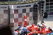 July 2, 2006: Indianapolis Motorspeedway. Michael Schumacher, Scuderia Ferrari, 248 F1
