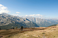 View of the peaks above the Ropojana Valley from Vrh Bora, Peaks of the Balkans trail, Montenegro © Rudolf Abraham