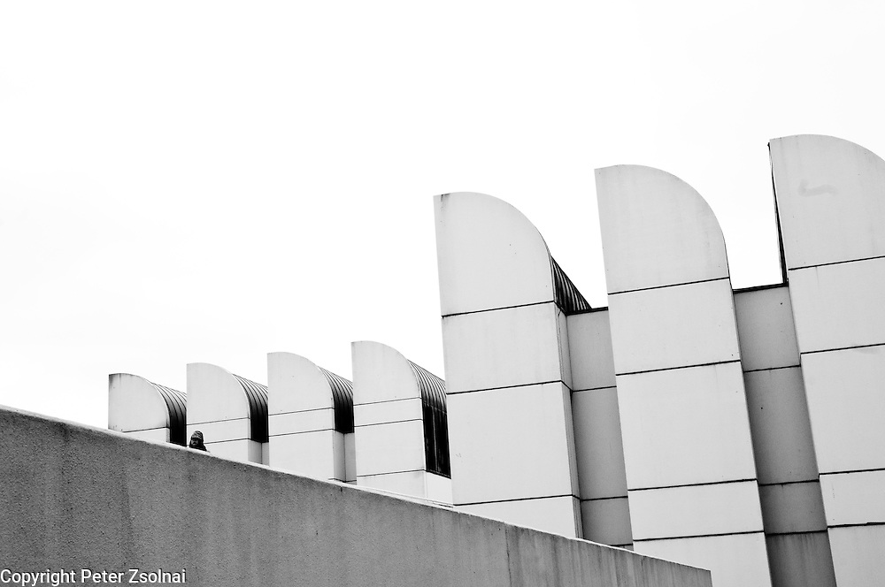 Facade of the Bauhaus Archive Museum, Berlin, Germany