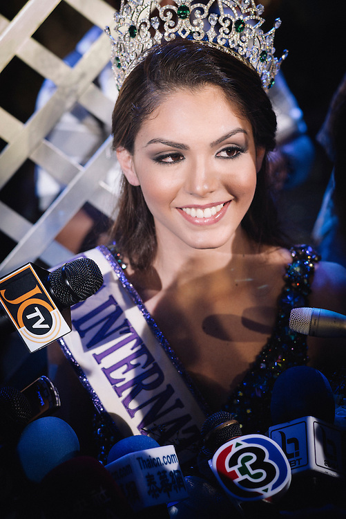 Pattaya - Thailand - November 2, 2013 - Miss International Queen 2013 at the Tiffany's Show, Miss Brazil, Marcelo Ohio won the contest on 2 november 2013. The objective of the Miss Queen contest is to raise the awarness and acceptance, and to promote the human rights and equality of transvestites/transgender at an international level. LadyBoy, Born to be a woman, Kathoeys work in predominately female occupations, such as in shops, restaurants and beauty salons, but also in factories. Kathoeys also work in the entertainment sector and at tourist centers, cabarets. Kathoeys are more visible and more accepted in the Thai culture than transgender or transsexual people are in Western countries..This acceptance is due to the nature of the surrounding Buddhist culture, which places a high value on tolerance.