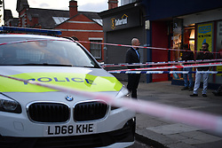 © Licensed to London News Pictures. 01/07/2019. London, UK. A police cordon surrounds a crime scene as a man is fighting for his life in hospital having sustained puncture injuries to the neck. The victim in his 30s is understood to be in a critical condition following the assault. Police responded to a call at 5.12pm reporting a fight and attended an address in Argyle Road, West Ealing. Another man also in his 30s has been arrested. Photo credit: Guilhem Baker/LNP