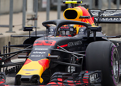 October 20, 2018 - Austin, USA - Aston Martin Red Bull Racing driver Max Verstappen (33) of Netherlands exits pit row during the third practice session at the Circuit of the Americas in Austin, Texas on Saturday, Oct. 20, 2018. (Credit Image: © Scott Coleman/ZUMA Wire)