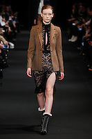 Julia Hafstrom (IMG New York) walks the runway wearing Altuzarra Fall 2015 during Mercedes-Benz Fashion Week in New York on February 14, 2015