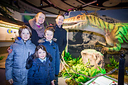 NO FEE PICTURES<br /> 17/12/17 Today FM's Dermot Whelan, wife Corina and children Owen 11 Mathew 10 Rosie 6 pictured at the prehistoric preview and official opening of Dinosaurs Around The World now open at the the Ambassador Theatre  for a limited time only. Embark on a globetrotting expedition around the world to discover the Age of Reptiles! With advanced animatronics, a multi-layered narrative, fossils, authentic casts, cutting-edge research and immersive design elements you'll experience the Age of Reptiles as it comes to life!  Dinosaurs Around the World is open daily to the public from 10 a.m. with last entry at 6pm for a limited time only. Tickets available from Ticketmaster.ie and from the Ambassador Theatre Box Office now. Visit www.mcd.ie for more. Pictures: Arthur Carron