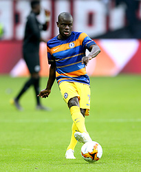 Chelsea's N'Golo Kante during the pre-match warm up ahead of the UEFA Europa League Semi final, first leg match at The Frankfurt Stadion, Frankfurt.