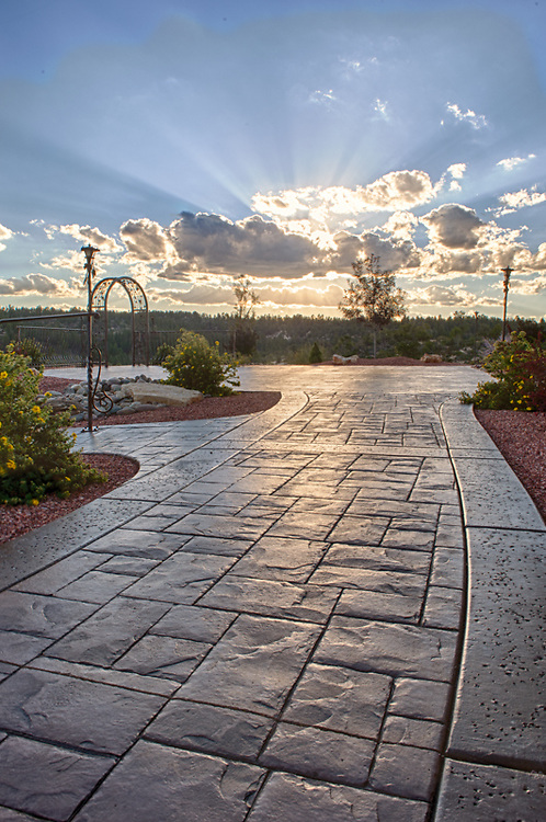 Pavers and concrete works performed by Creative Landscaping Inc. in east Zion Ponderosa Estates.