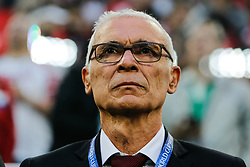 June 19, 2018 - Saint Petersburg, Russia - Egypt national team head coach Hector Cuper during the 2018 FIFA World Cup Russia group A match between Russia and Egypt on June 19, 2018 at Saint Petersburg Stadium in Saint Petersburg, Russia. (Credit Image: © Mike Kireev/NurPhoto via ZUMA Press)
