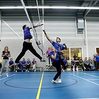 Nederland, Bennebroek , 4 november 2011..Volleybaltoernooi voor medewerkers van GGZinGeest in de Fit-in gymzaal van Westerpoort in .Bennebroek..Foto:Jean-Pierre Jans