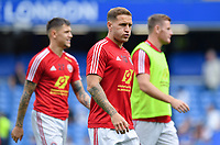 Football - 2019 / 2020 Premier League - Chelsea vs. Sheffield United<br /> <br /> Sheffield United's Billy Sharp during the pre-match warm-up, at Stamford Bridge.<br /> <br /> COLORSPORT/ASHLEY WESTERN