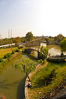 View of the Wumen Gate Bridge at the Panmen City Gate, Suzhou, China